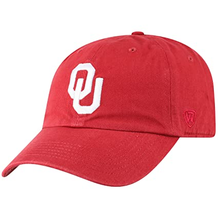 sports shoes 5c27c e36bd Top of the World NCAA Oklahoma Sooners Men s Adjustable Relaxed Fit Team  Icon Hat, Cardinal