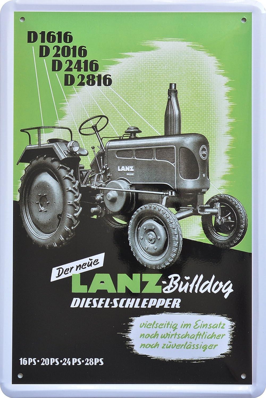 Cartel de chapa Tractor Lanz Bulldog 20 x 30 cm Diseño Retro ...