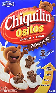 Artiach Chiquilín Ositos - Galletas de cereales sabor Chocolate, 450 g