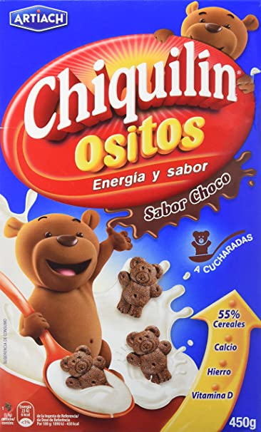 Artiach Chiquilín Ositos - Galletas de cereales sabor Chocolate, 450 g