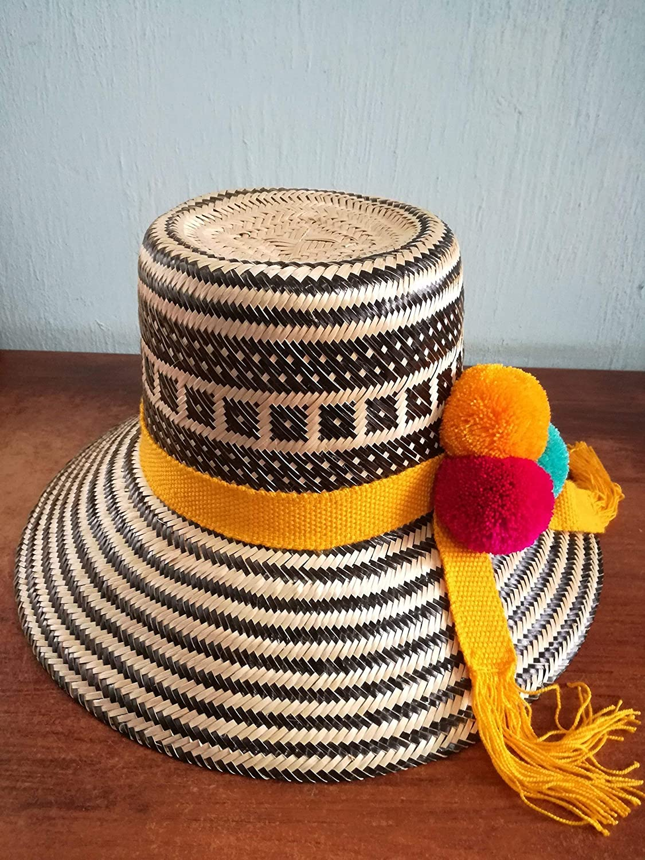 SUMMER HAT, WAYUU HAT, SUN HAT, STRAW HAT, AUTHENTIC HANDMADE HAT.