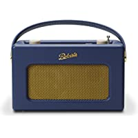 Roberts Radio Retro DAB/DAB+ FM Wireless Portable Digital Bluetooth Radio Alexa Voice Controlled Smart Speaker Revival iStream 3 - Midnight Blue