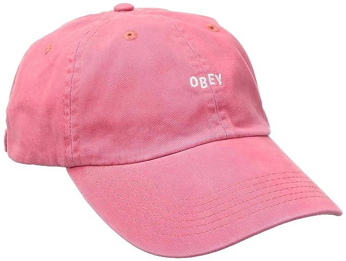 Obey - Gorra de béisbol - para Hombre Rosa Coral Talla única: Amazon.es: Ropa y accesorios