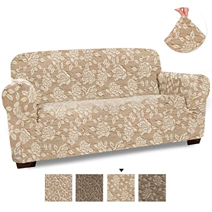 Tremendous Loveseat Cover Loveseat Slipcovers Loveseat Couch Covers Cotton Fabric Slipcovers 1 Piece Form Fit Stretch Stylish Furniture Cover Jacquard Gmtry Best Dining Table And Chair Ideas Images Gmtryco