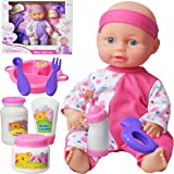 "10"" Baby Doll Play Set with Feeding Milk Bottle and Accessories Girls Toy"