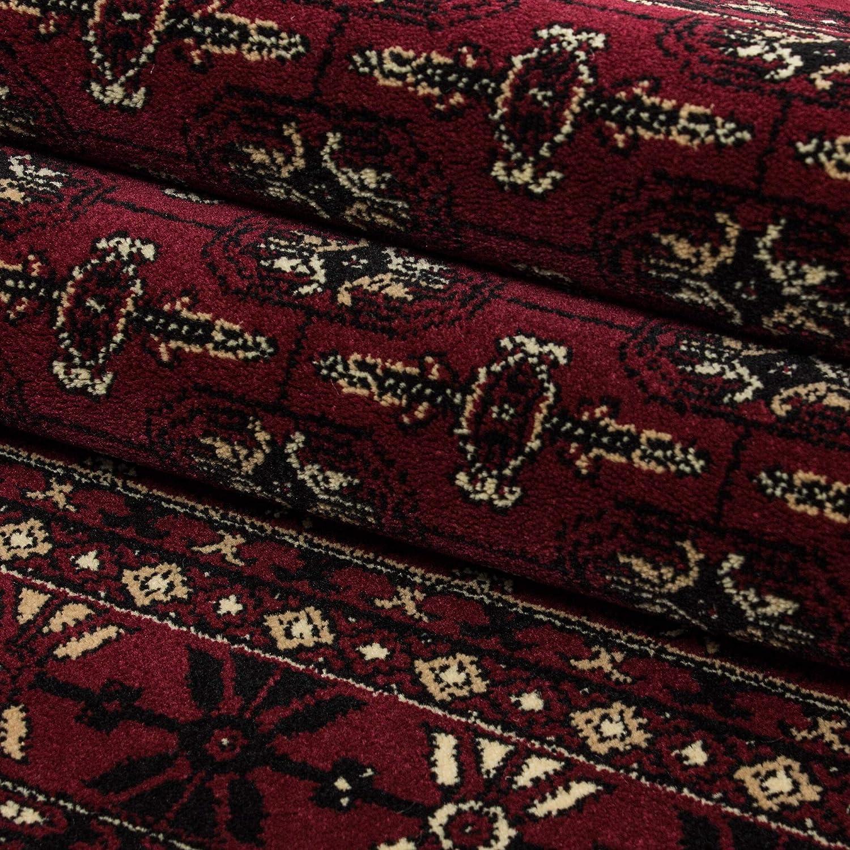 Orientteppich Orientteppich Orientteppich Wohnzimmer Klassische Optik Afghanischer Muster Rot Schwarz Beige, Maße 160x230 cm B07H5V4Z2Y Teppiche 9a0e2e