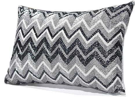 Amazon Max Studio Home Chevron Decorative Beaded Throw Pillow Mesmerizing Max Studio Home Decorative Pillow