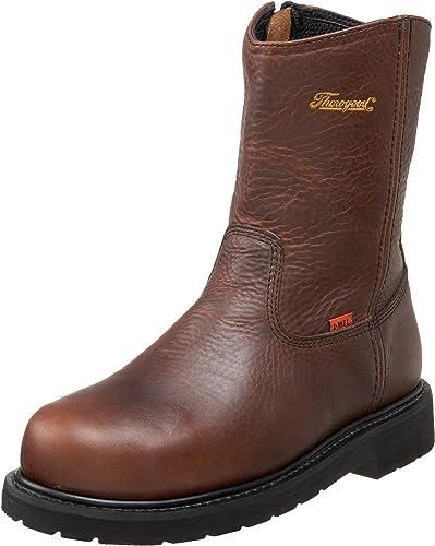 "Thorogood SZ 804-4132 Men/'s 8/"" Steel Toe Dark Brown Leather Safety Work Boots"
