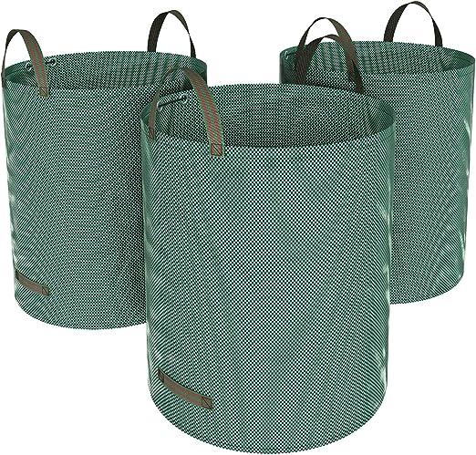 SONGMICS Bolsas para Desechos de Jardín, Saco para Residuos, Juego de 3 Unidades con Capacidad de 272L, Verde GTS272L: Amazon.es: Hogar