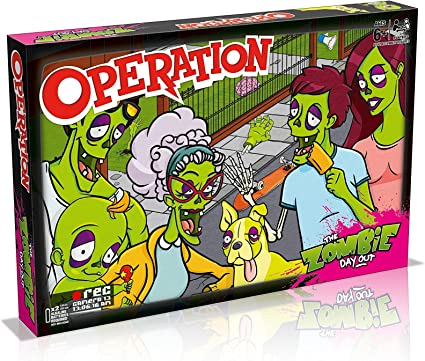 The Zombie Day Out Operation Silly Skills game with extra bite
