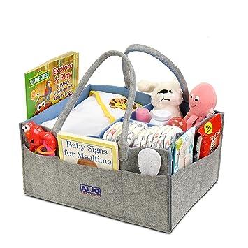 Organizador de pañales para bebé, organizador de guardería, caja de almacenamiento para pañales,