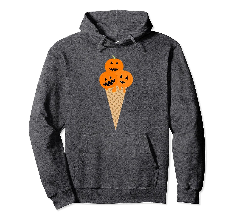 Funny Halloween Shirts - Yummy Pumpkin Ice Cream Tee Hoodie-mt