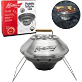 "Portable Tailgater Grill by Budweiser - Non-stick Collapsible Stainless Steel 12"" Outdoor Grill with Carrying Bag"