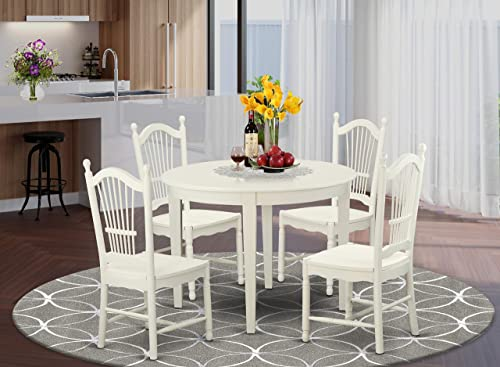 East-West Furniture 5-piece Dinette set 4 Fantastic Wooden dining room chair