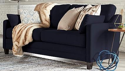 Amazon Com Serta Carmina Sofa Chenille Fabric Cambridge Navy