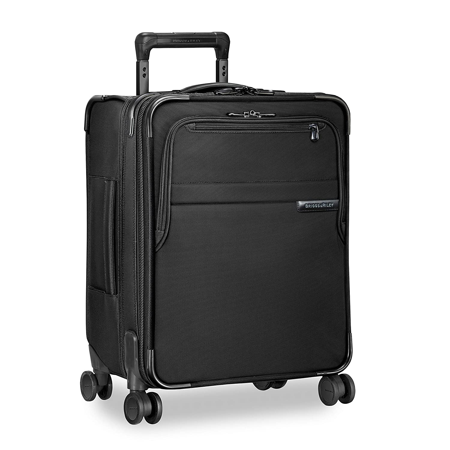 672ebce6bbb Amazon.com   Briggs   Riley Baseline International Carry-On Expandable Wide- Body Spinner, Black, One Size   Carry-Ons
