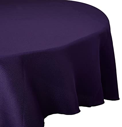 Ordinaire Gee Di Moda Tablecloth   120u0026quot; Inch Round Tablecloths For Circular  Table Cover In Purple