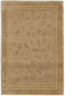 Charmant Mohawk Home Wellington Deep Sand Vine Scroll High Low Plush Bath Rug,  30x50, Tan