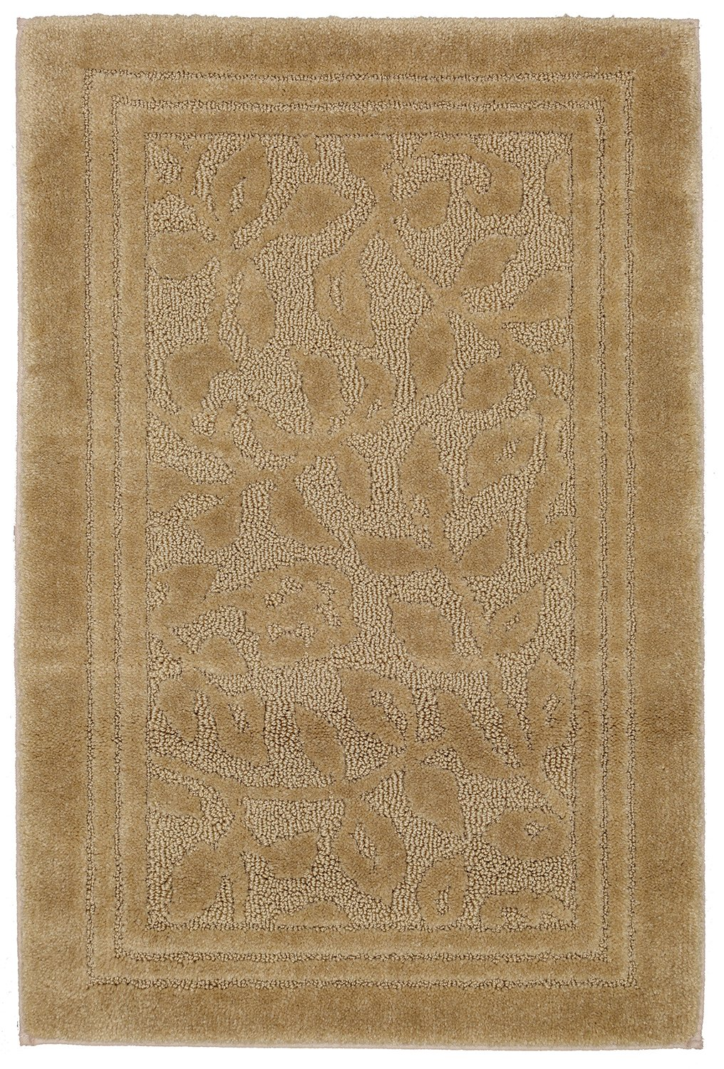 Mohawk Home Wellington Deep Sand Vine Scroll High Low Plush Bath Rug, 30x50, Tan by Mohawk Home (Image #1)