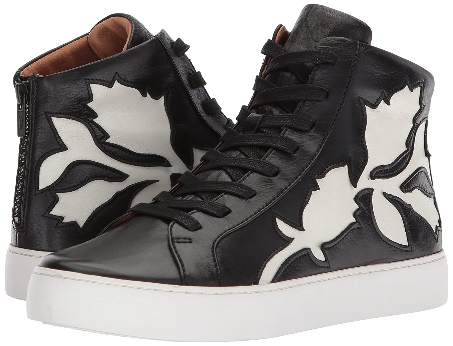 FRYE Women's Lena Flora B(M) High Sneaker B07215RLBH 9.5 B(M) Flora US|Black 4be0df