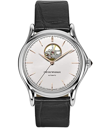 Reloj Emporio Armani Swiss Made ARS3303 Negro Acero 316 L Hombre: Amazon.es: Relojes