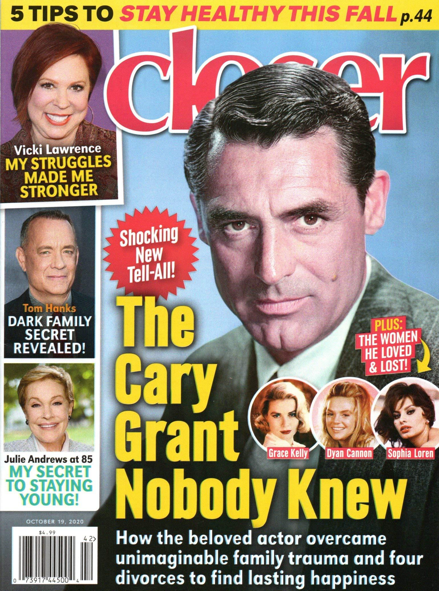 Closer Magazine October 19 2020 Cary Grant - Vicki Lawrence - Tom Hanks - Julie  Andrews - Jane Seymour: Dylan Howard: Amazon.com: Books