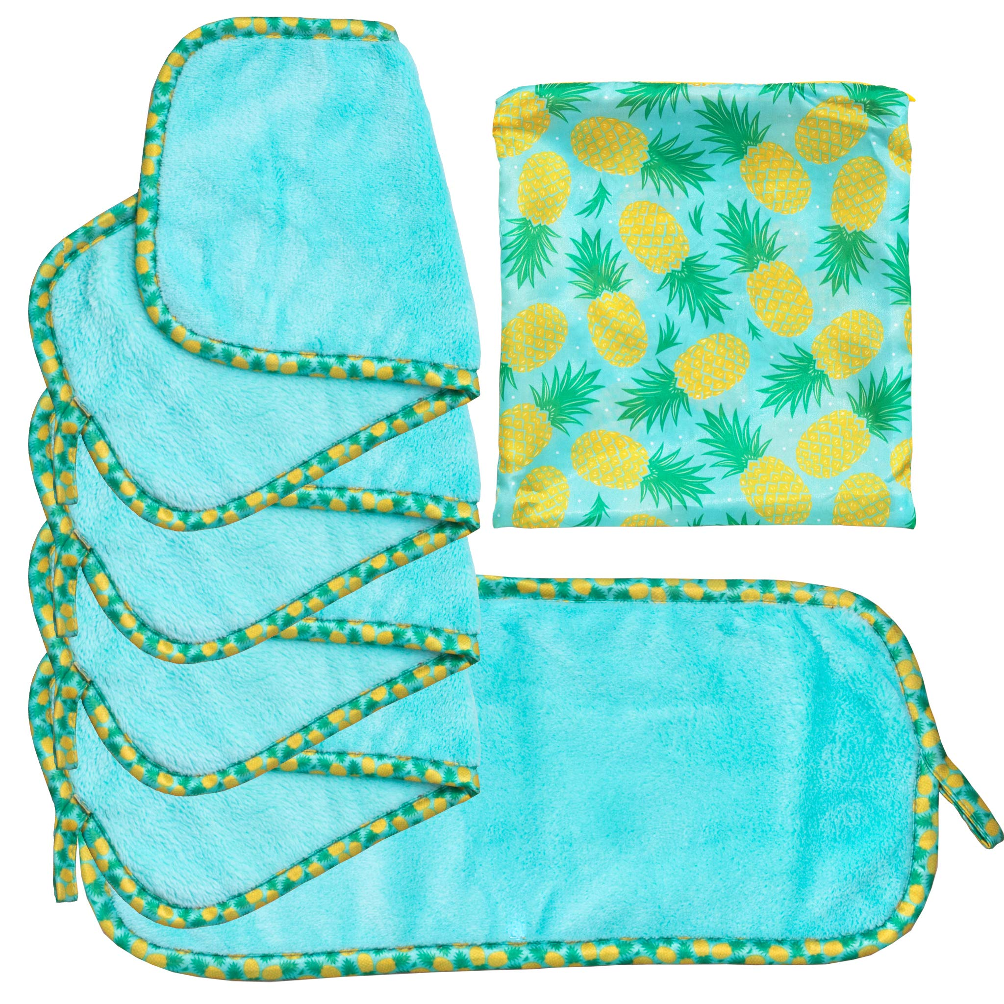 Set Of 5 FreshFace Makeup Remover Cloths by Campanelli (5pc, Pineapple) by by CAMPANELLI