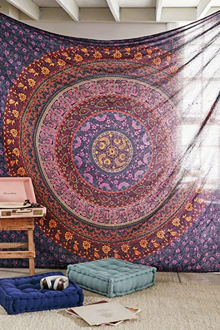 Mandala Tapestry, Bohemian Bedding, Indian Wall Hanging, Hippie Wall  Tapestries, Dorm Decor Part 75