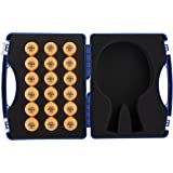 JOOLA Table Tennis Tour Case with 18 40mm Three Star Competition Balls