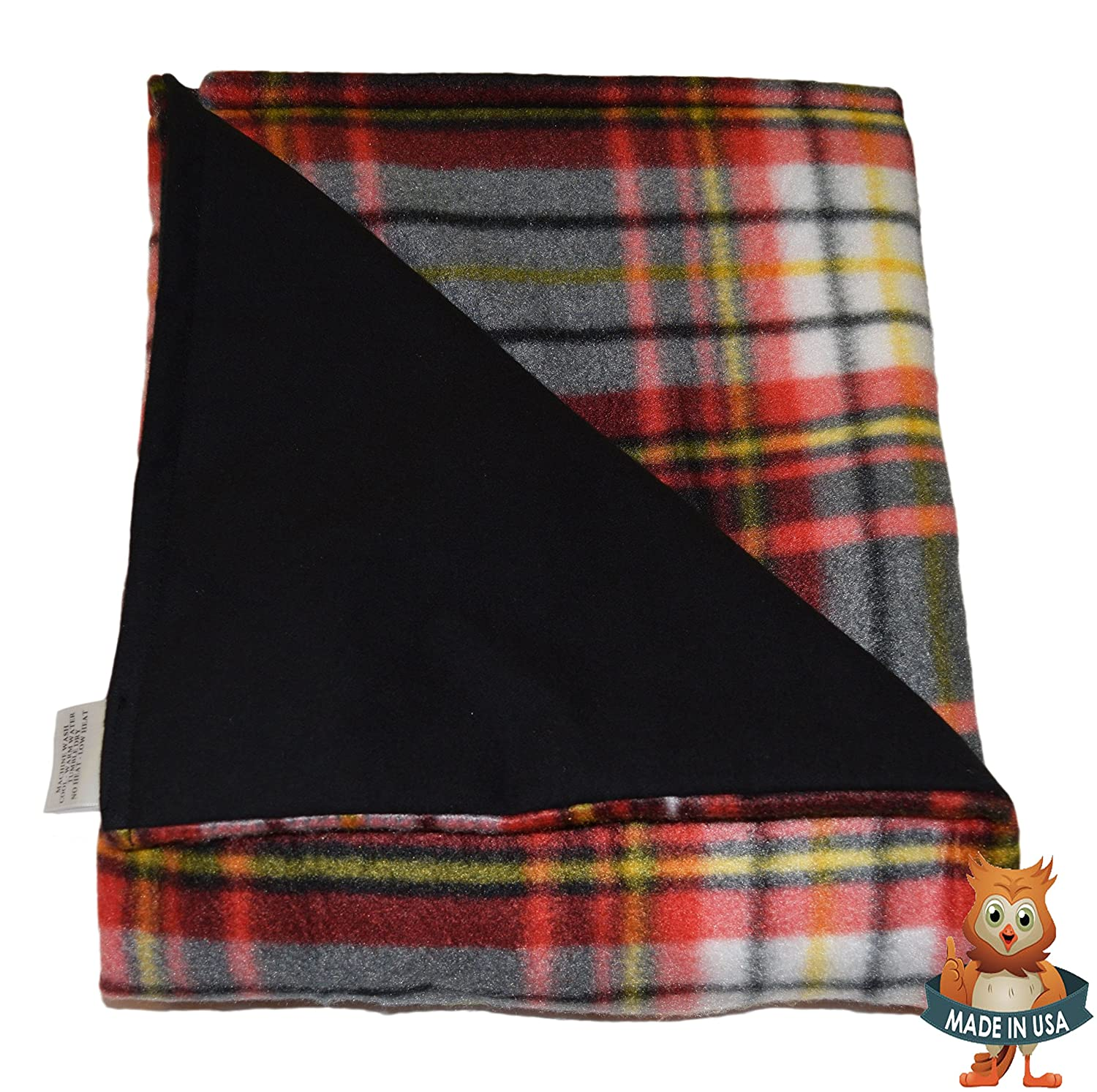 Fleece//Flannel 48 x 30 4lb Low Pressure Domingo-Multi II Pattern//Black SENSORY GOODS Child Small Weighted Blanket Made in America Provides Comfort and Relaxation.