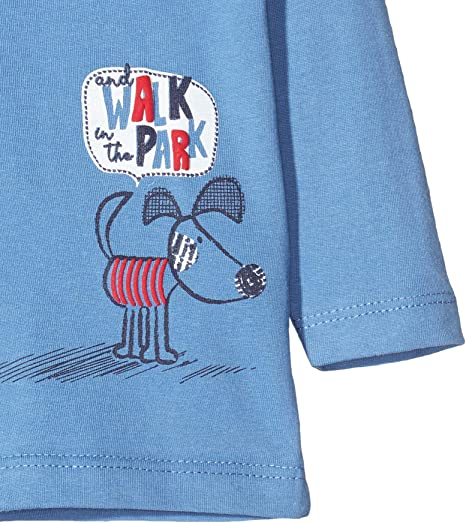 Blue Seven Mini Jungen Langarmshirt Hund T-Shirt /À Manches Longues B/éb/é gar/çon