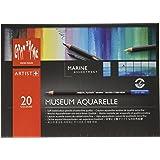 Caran D'ache Museum Aquarelle Pencil Sets Marine set of 20 colours (3510.920 )