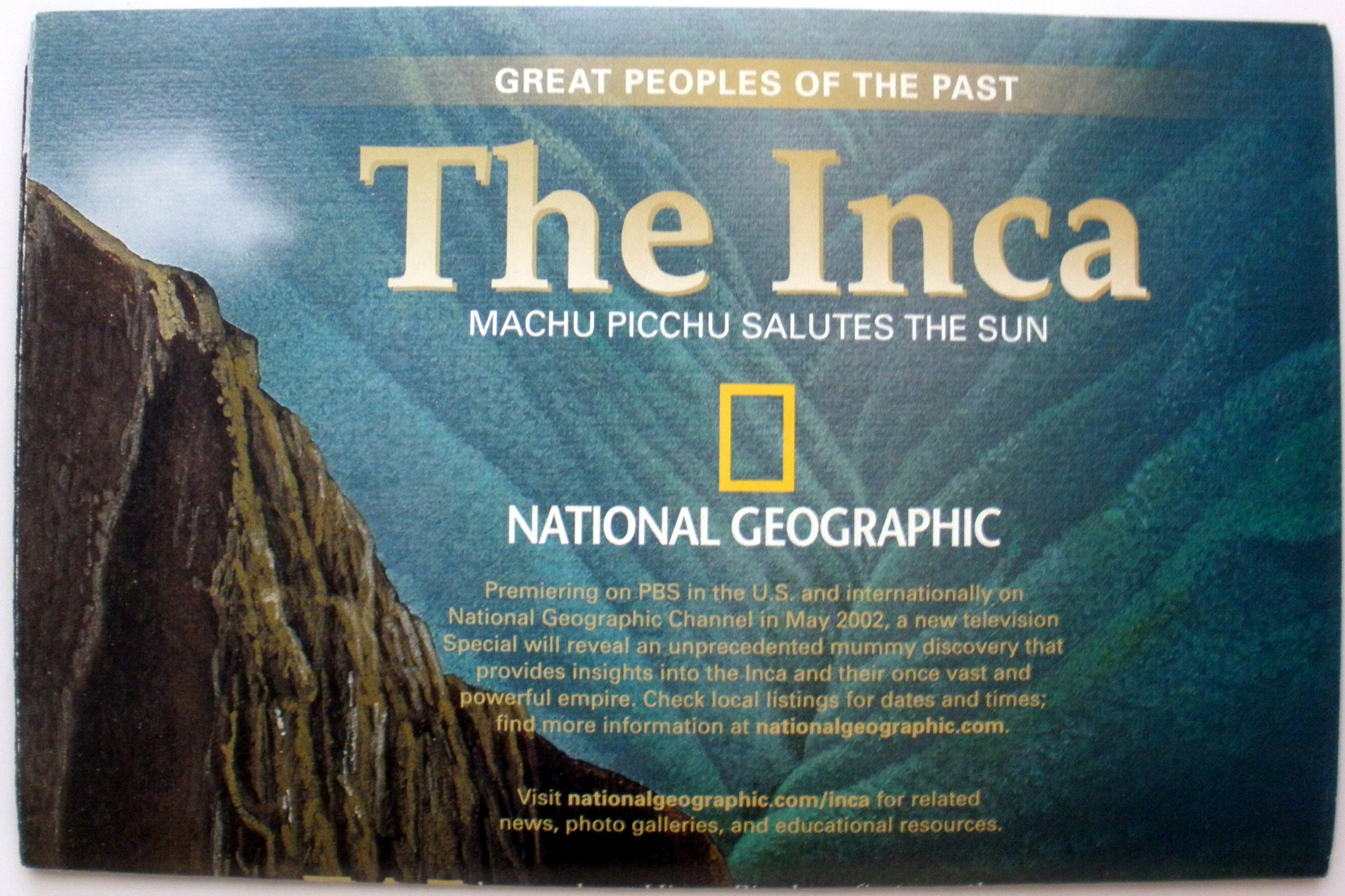 Read Online National Geographic Magazine Map, May 2002, The Inca PDF