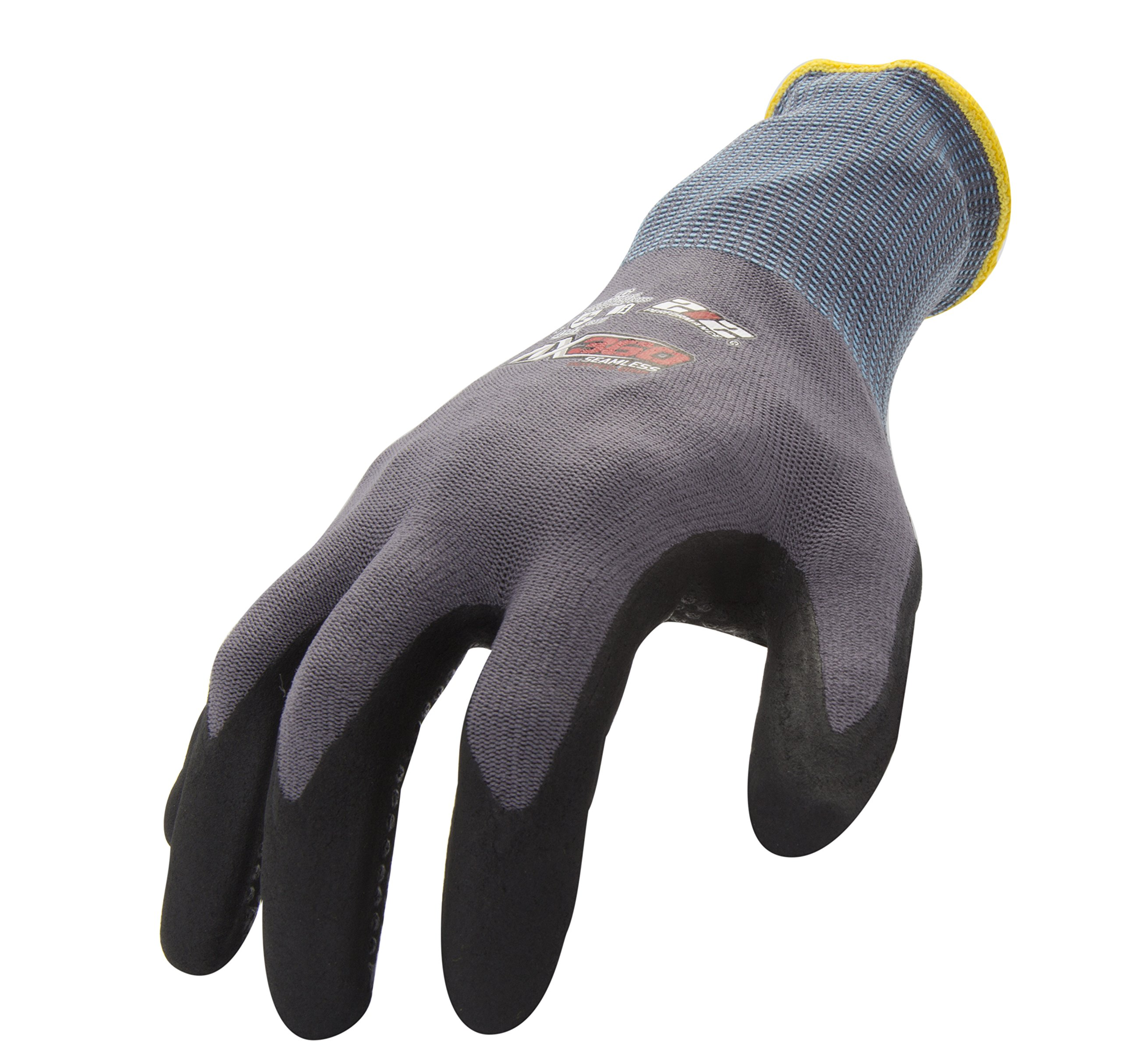 212 Performance Gloves AXDG-16-008 AX360 Dotted Grip Nitrile-dipped Work Glove, 12-Pair Bulk Pack, Small by 212 Performance Gloves (Image #1)