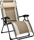 AmazonBasics Padded Zero Gravity Patio Chair - Tan