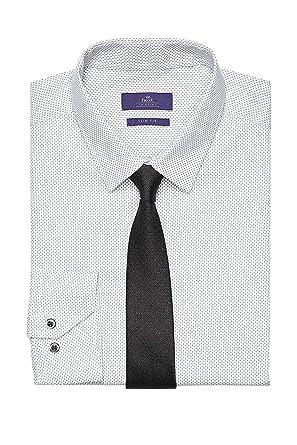 next Hombre Conjunto De Camisa Estampada Blanca Y Corbata Manga ...