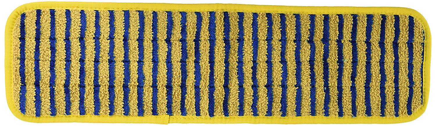 Rubbermaid Commercial Products RCP Q810 Microfiber Scrub Pad 18 X 5 Yellow/Blue - Case of 6