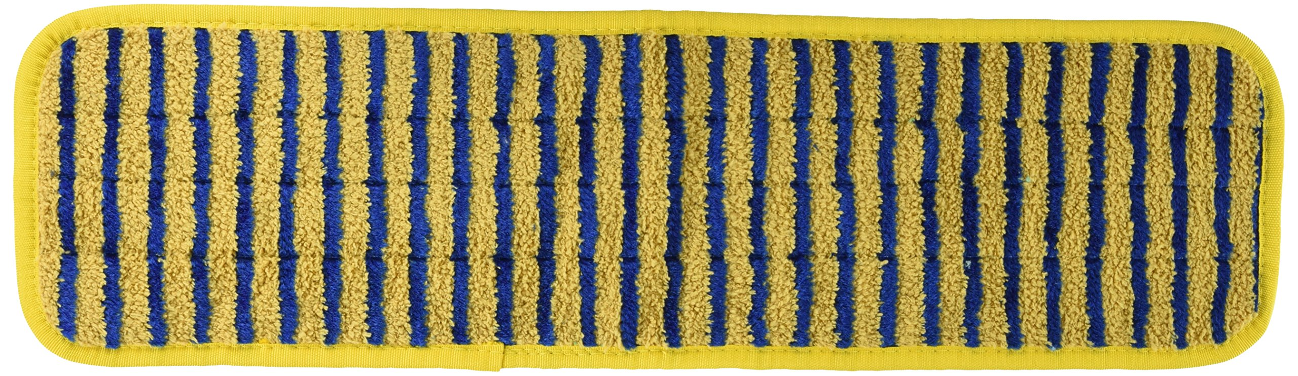 Rubbermaid Commercial Products RCP Q810 Microfiber Scrub Pad 18 X 5 Yellow/Blue - Case of 6 by Rubbermaid Commercial