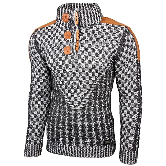 7c7992da7d58 Rusty Neal Herren Grobstrick Strickpullover Pullover Sweatshirt Jacke  RN-13300  Amazon.de  Bekleidung