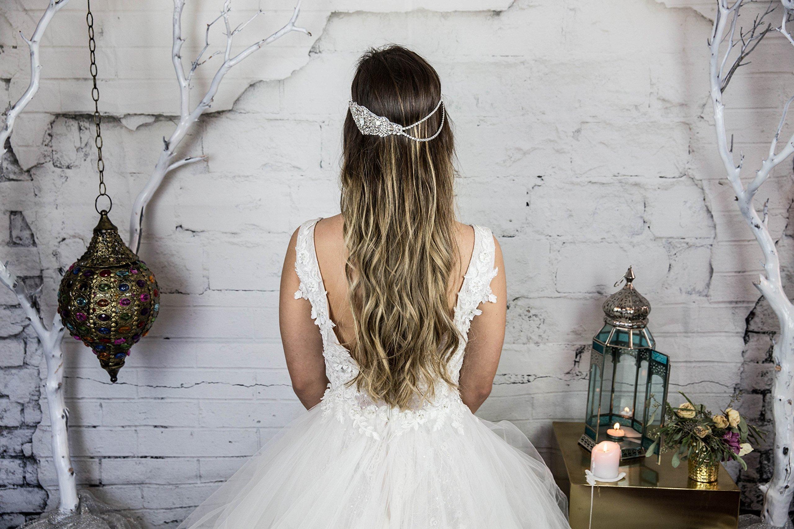 Crystal Bridal Head Chain / Wedding Headband / Crystal Head Chain Bohemian Hair Piece / Hair Jewelry for the Bride / Boho Beach Weddings Hair Accessories / Headchain / Head Piece / Weddings / Handmade
