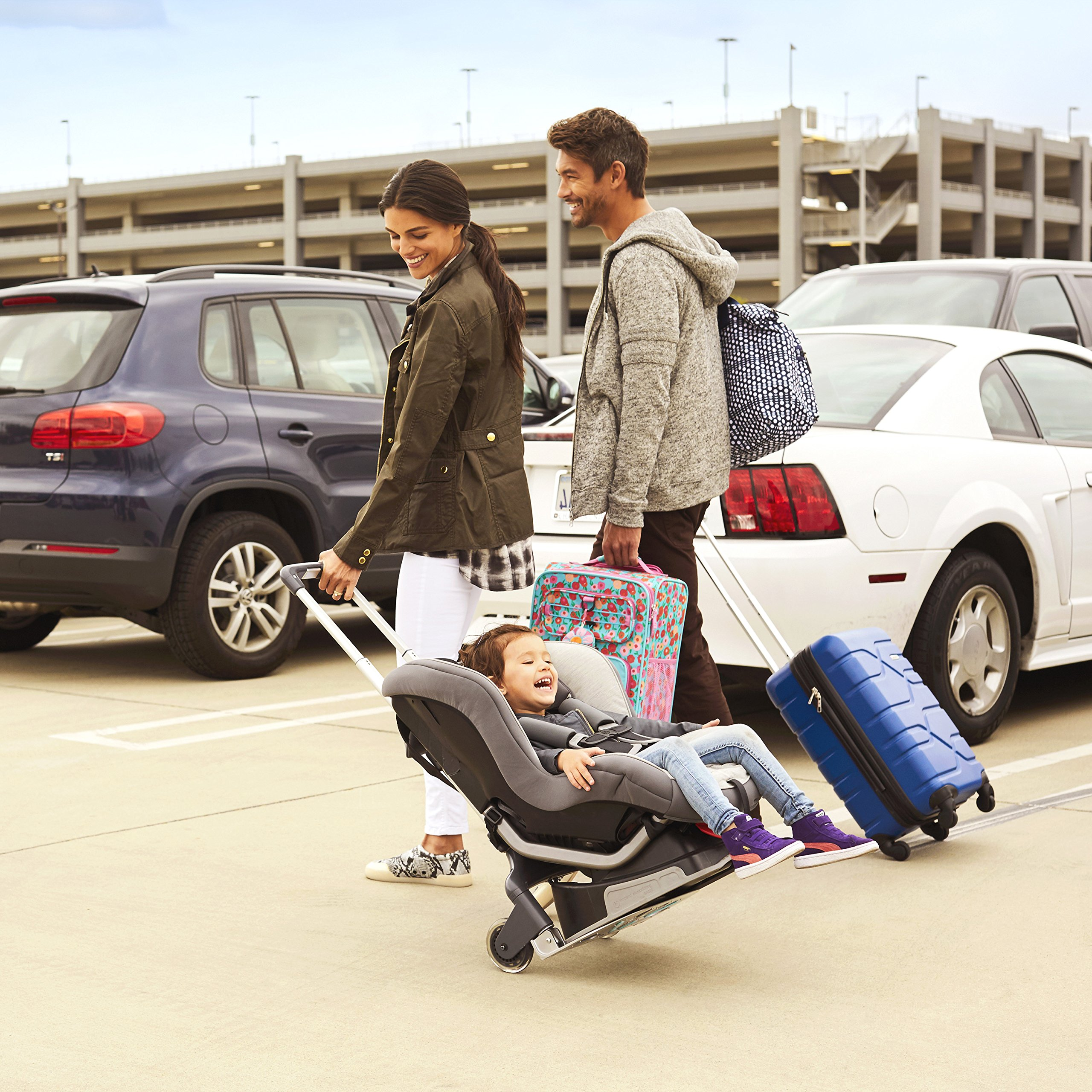 Brica Smart Move Car Seat Travel Cart, Airport Transporter, Grey by Munchkin (Image #2)
