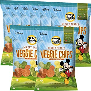 product image for Disney Mickey Mouse Shaped Veggie Chips Children's Healthy Snacks 6.75 Oz (8)