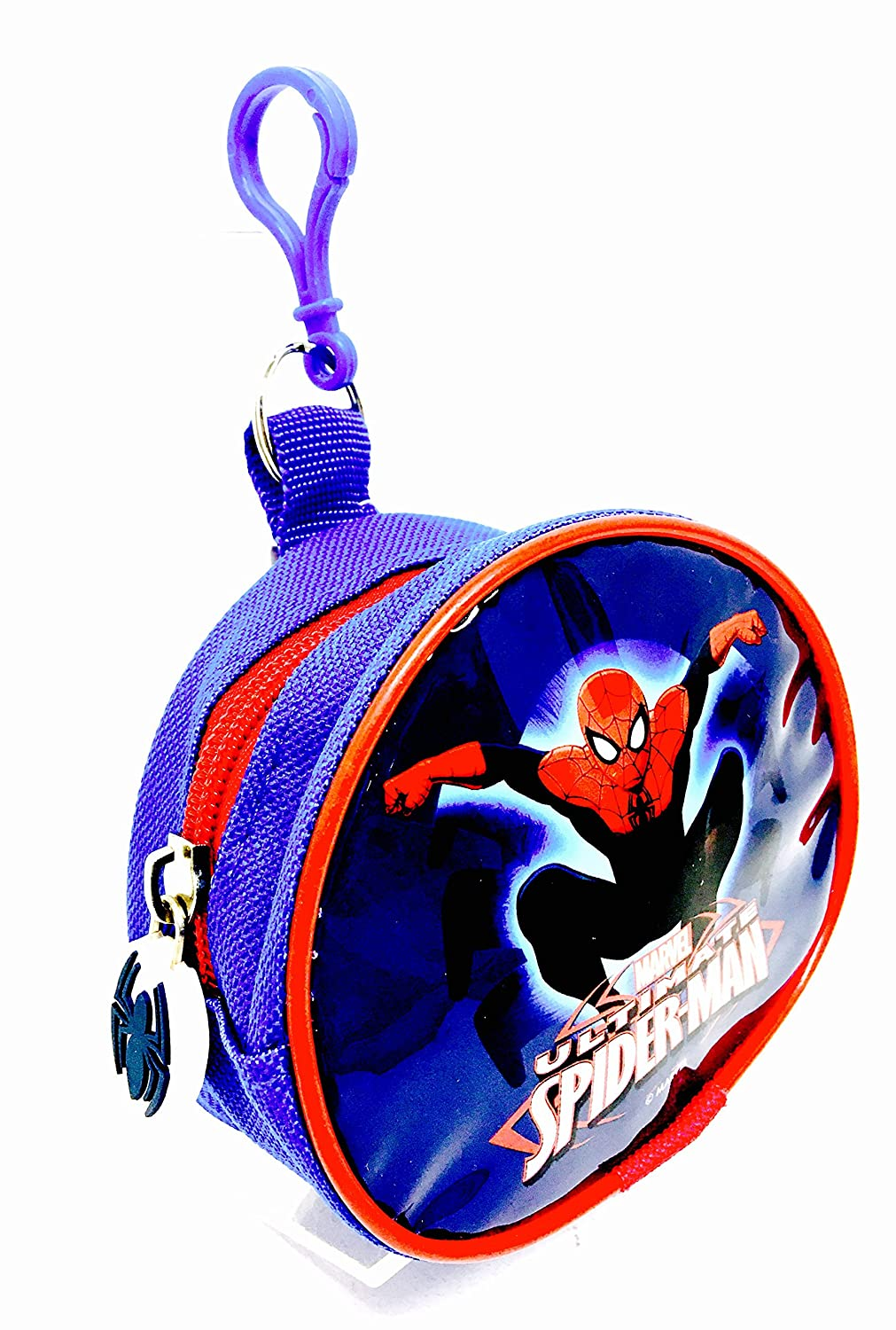 Ultimate Spiderman Fabric Coin Pouch with Bag & Keyring Attachment Catchy