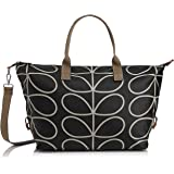 Orla Kiely Etc Giant Linear Stem Zip Holdall Top Handle Bag