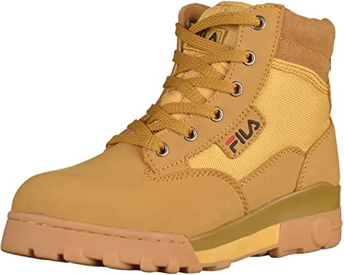 fa920df338 FILA Grunge Mid 4010281 Womens Wheat Leather Booties, 36, 5 EU ...