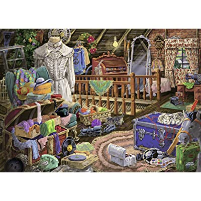 Ravensburger The Attic Large Format 500 Piece Jigsaw Puzzle for Adults – Every Piece is Unique, Softclick Technology Means Pieces Fit Together Perfectly: Toys & Games [5Bkhe0206870]