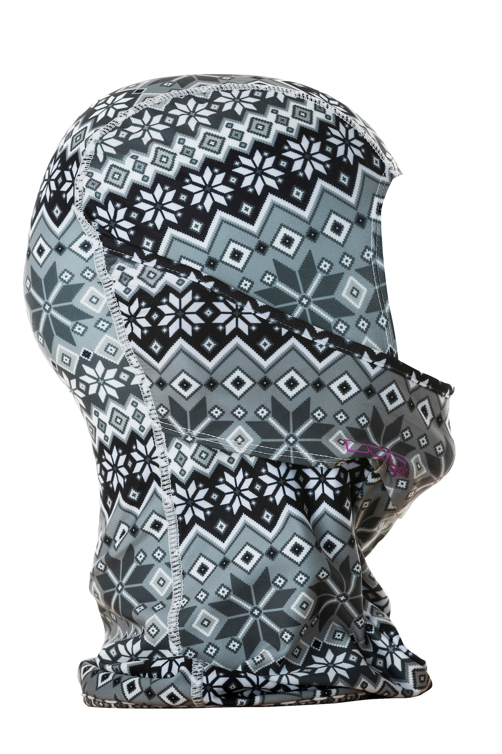 DSG Outerwear Women's Hinged Balaclava - Soft, Hinged Mouth, Moisture Wicking (Nordic Print)
