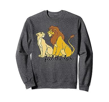 988153093 Amazon.com: Disney Lion King Simba Nala Feel The Love Graphic Sweatshirt:  Clothing