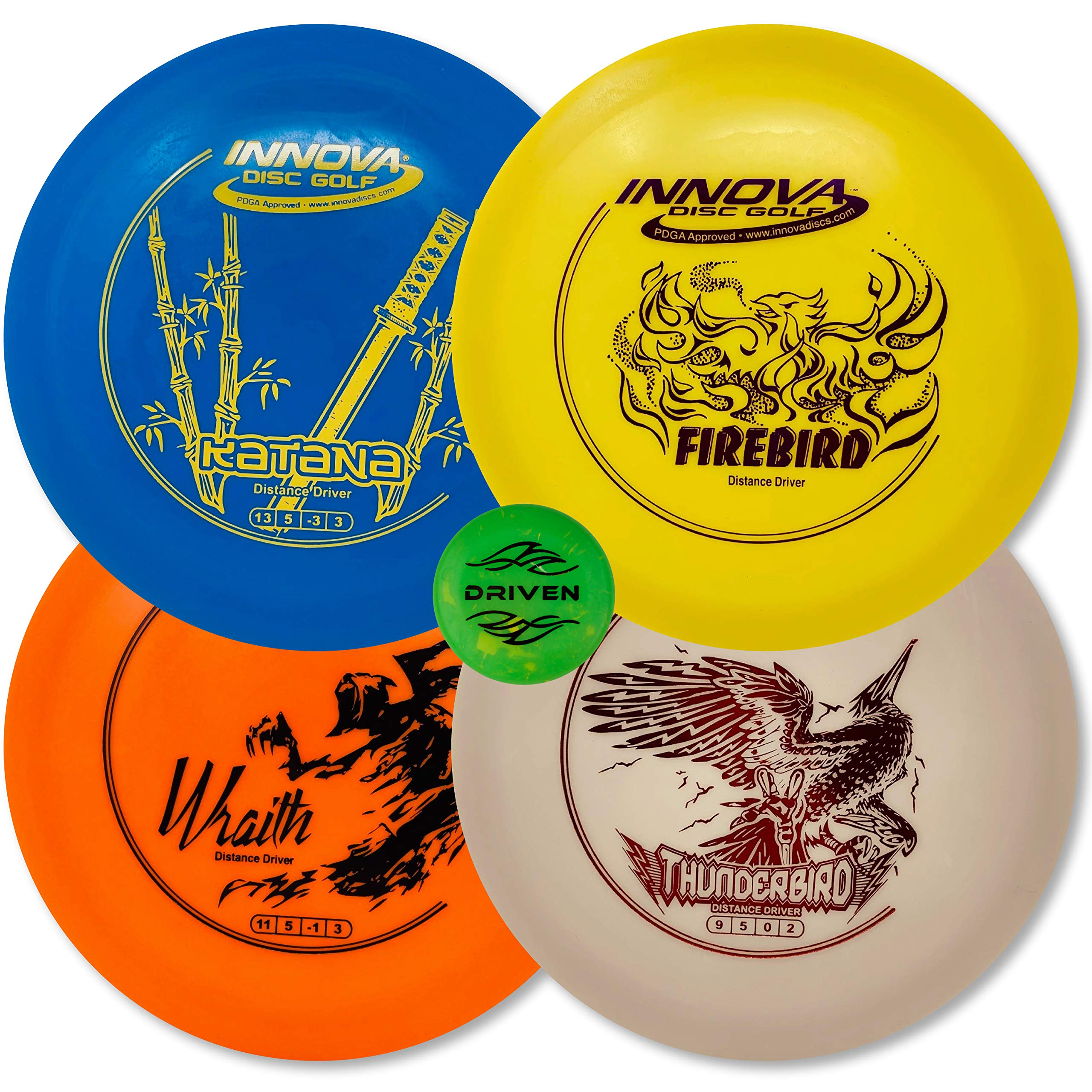 Driven Disc Golf - Advanced Players Pack (4 Disc Driver Set (Colors Vary)) by Driven Disc Golf (Image #1)