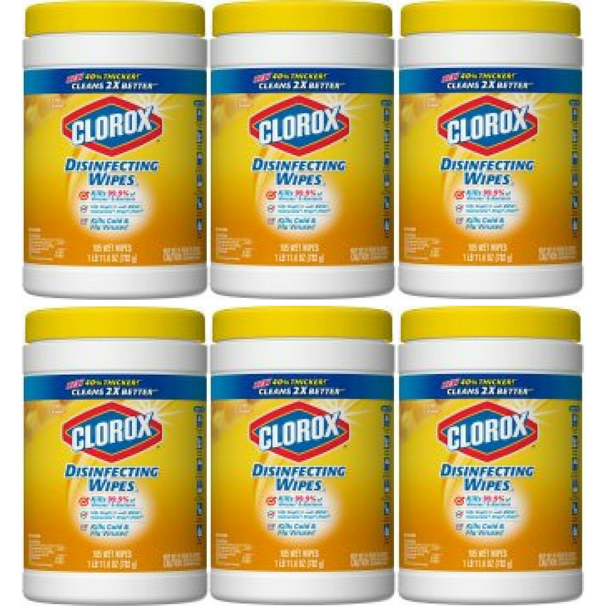 Clorox Disinfecting Wipes, Citrus Blend, 105 Wet Wipes - 6 Packs